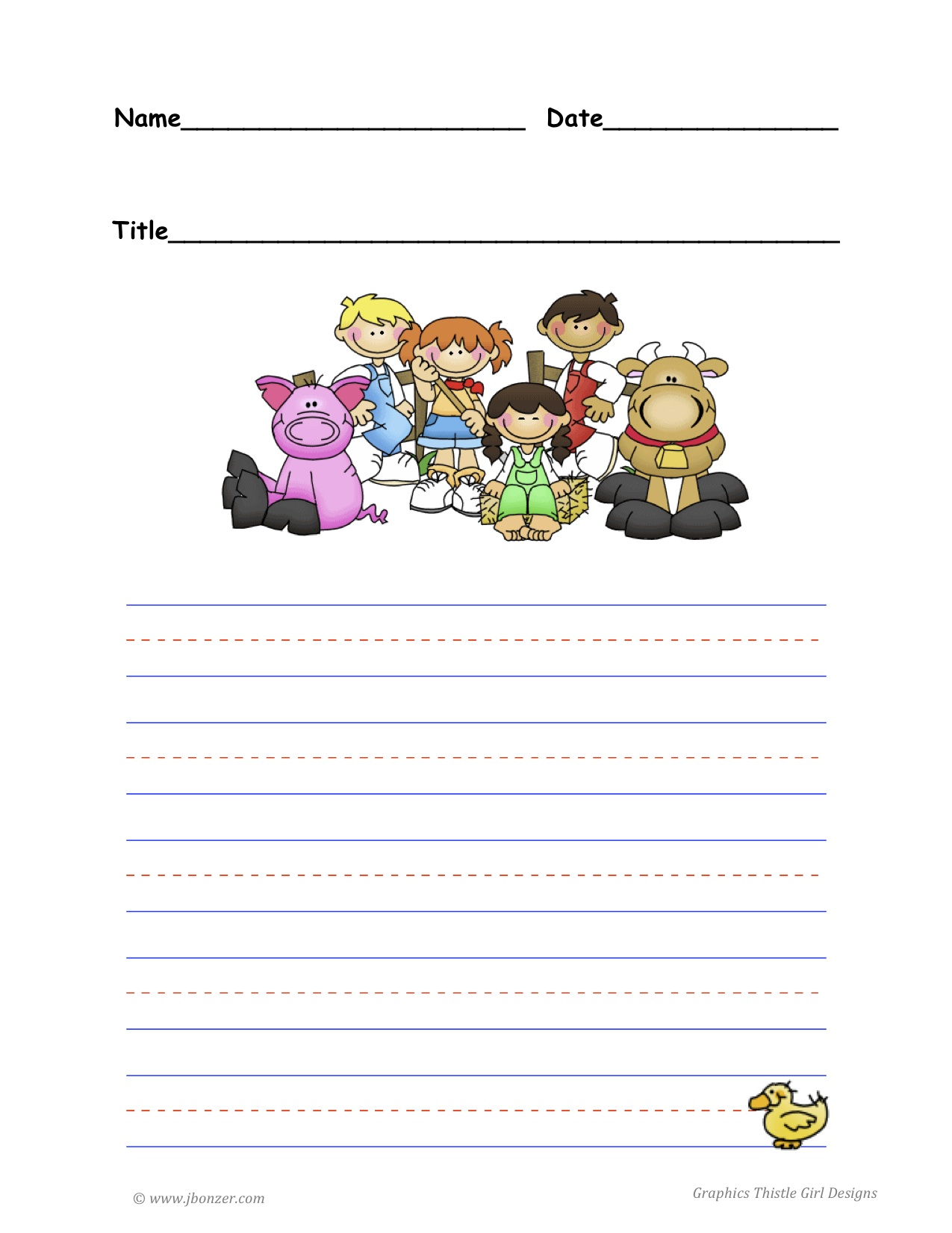 Sparklebox farm writing paper