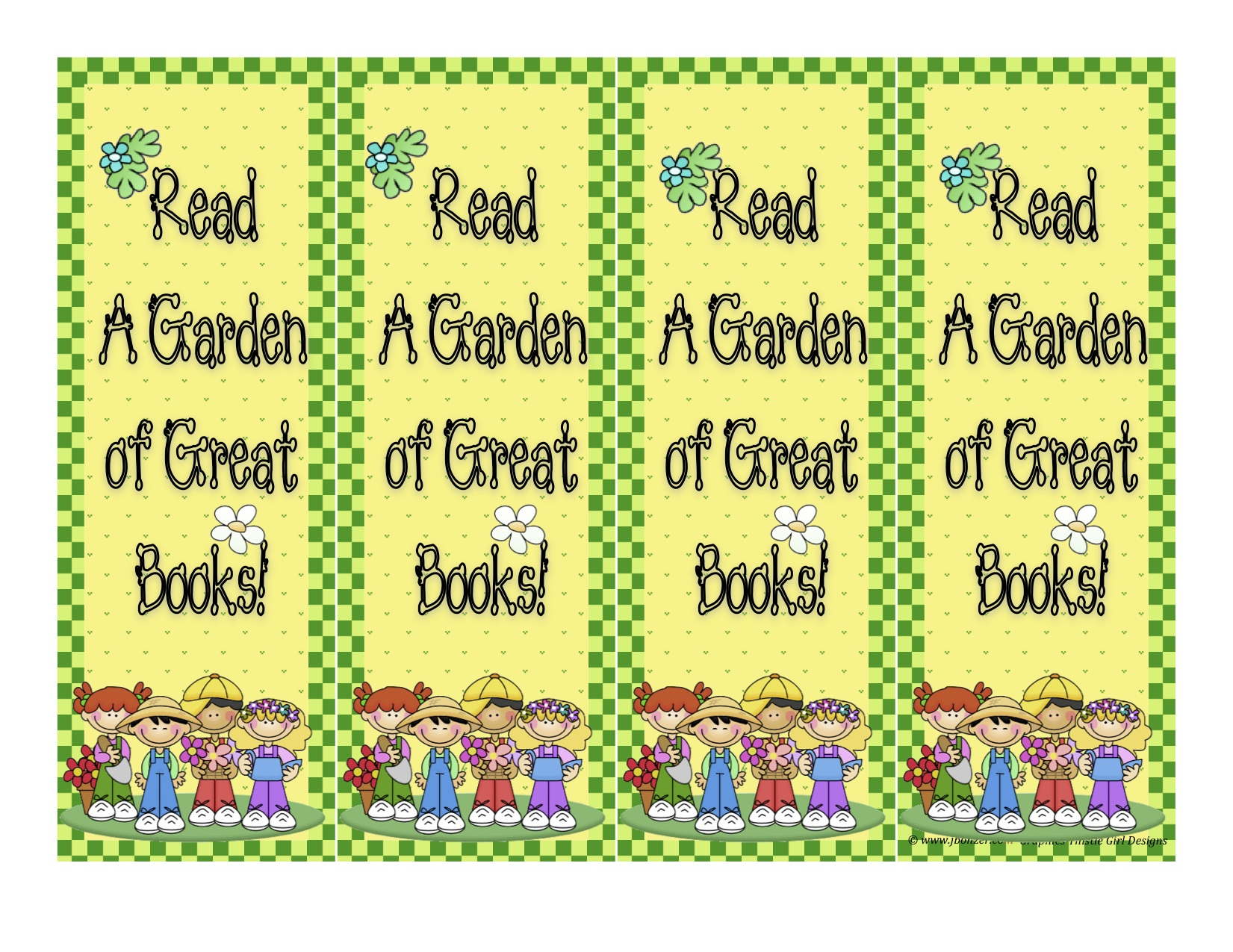 Heres The Scoop Clip Art Garden bookmarks