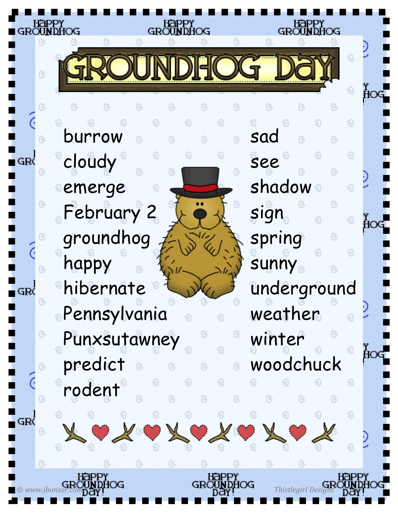 Veterans Day Poems For Kids Groundhog day poster