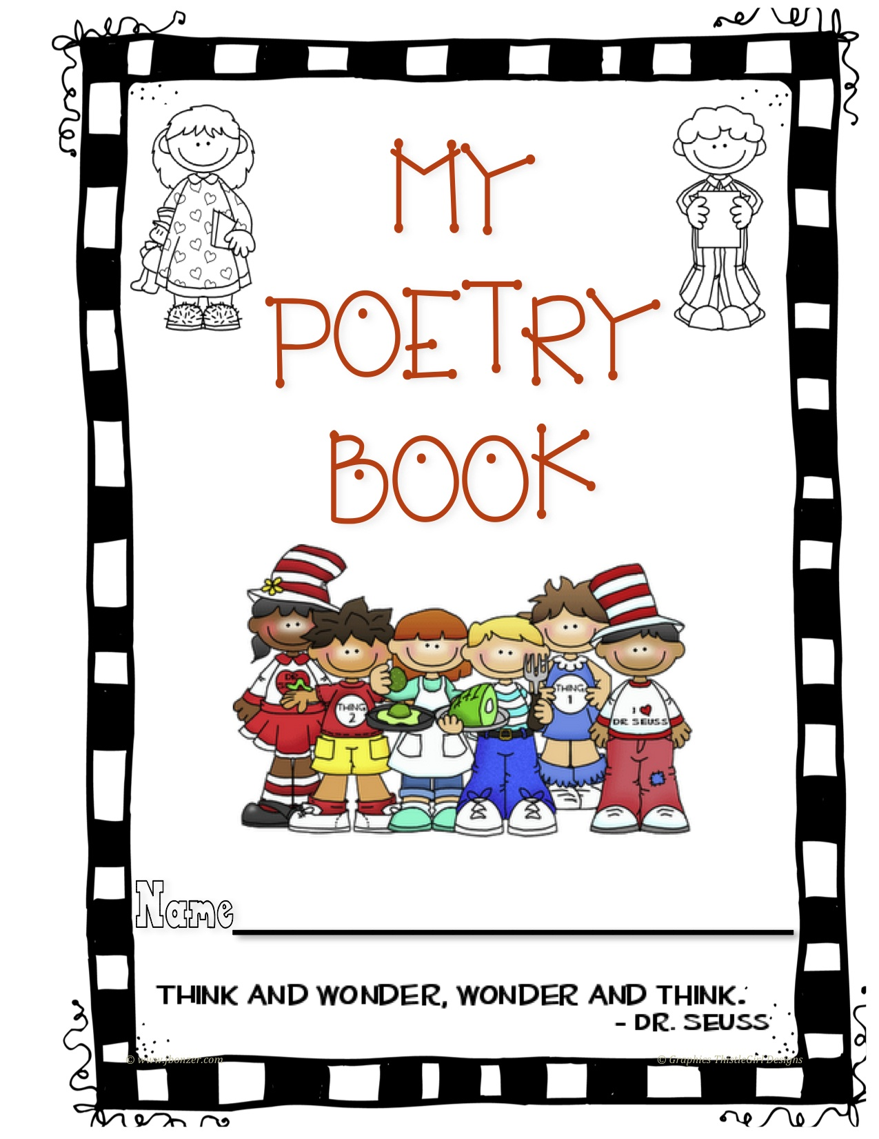 Poetry Book Cover Page : Mrs bonzer s poetry folders