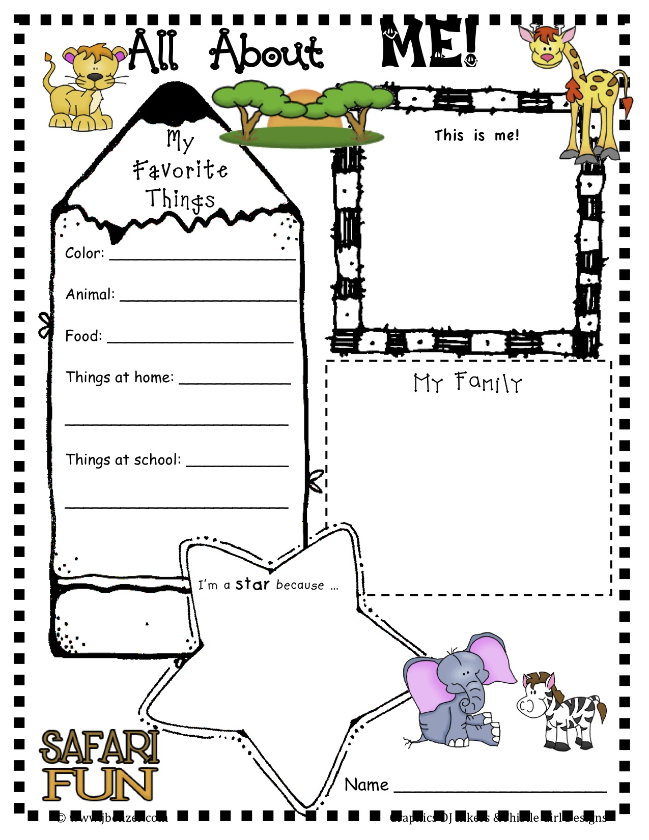 It is a photo of Old Fashioned Free Printable All About Me Poster