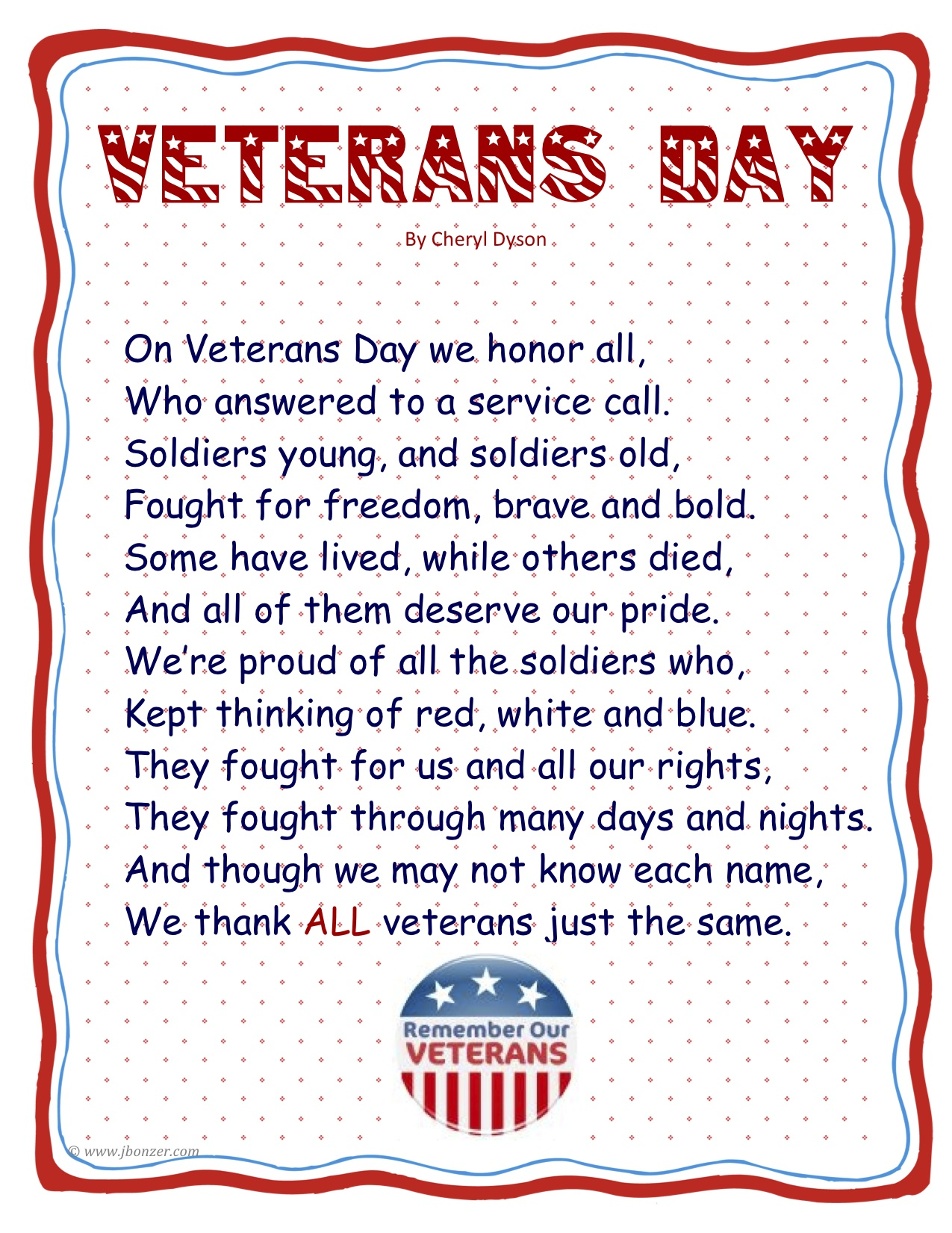 Memorial Day Poems For Kids Pictures To Pin On Pinterest