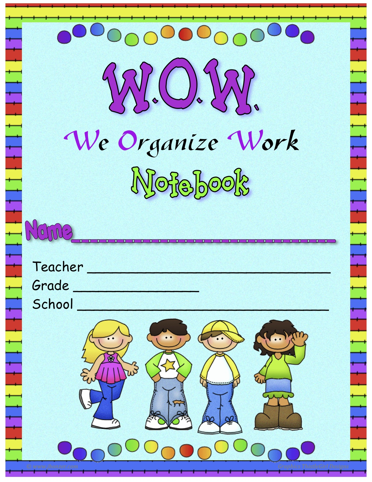 homework cover page template